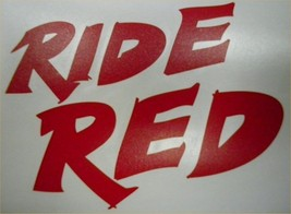 Factory Effex Honda Ride Red Sticker Decal Cr Crf Xr Cb Cbr Trx 250R 04-2674 - $13.95