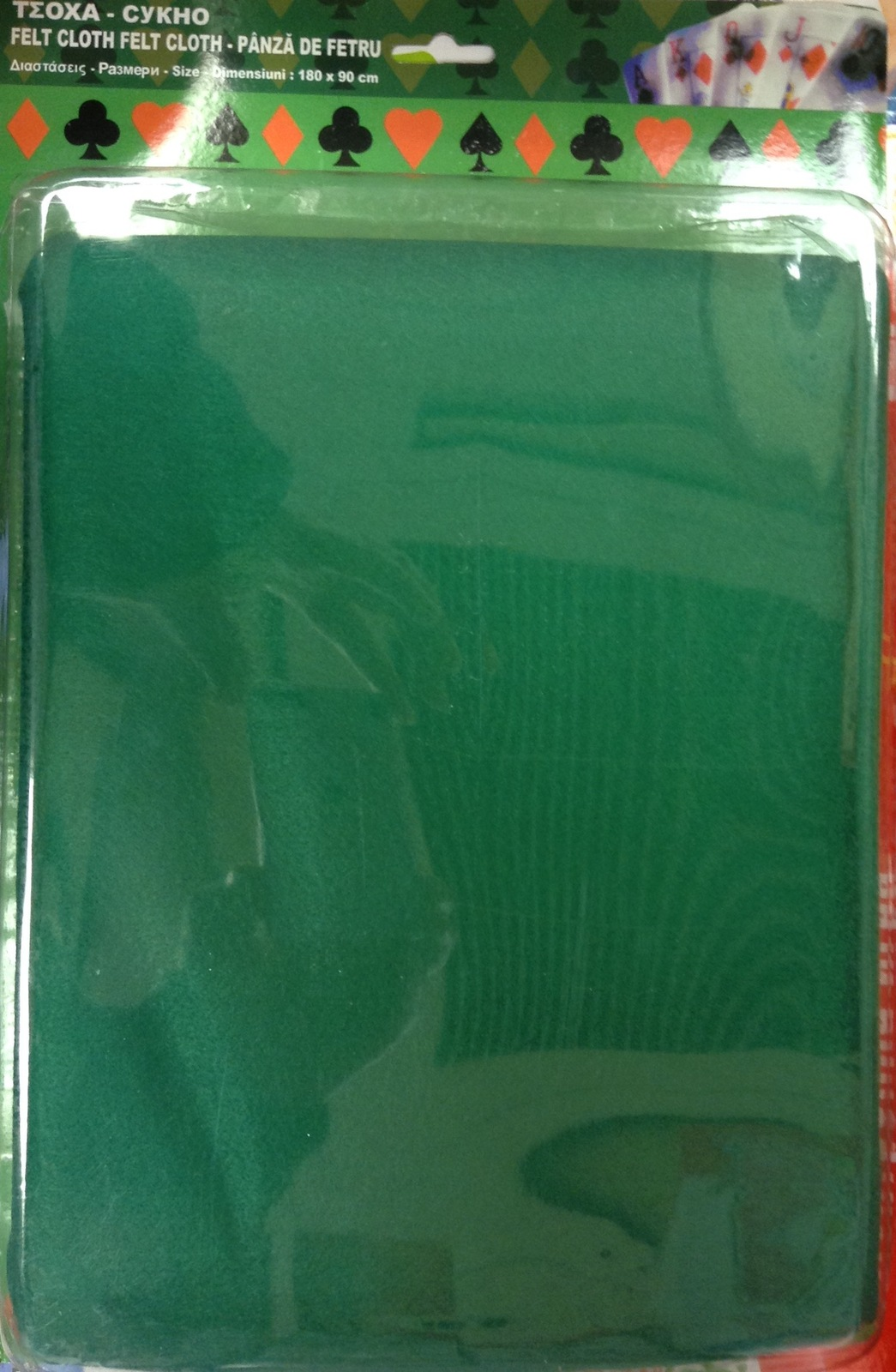 Green poker felt table cloth 180x90cm playing cards new tablecloths