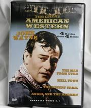 The Great American Western Volume # 4   4 Movies  DVD John Wayne - $7.65