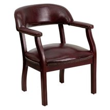 Flash Furniture Oxblood Vinyl Luxurious Conference Chair with Accent Nai... - $143.50