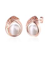 Hot Rose Gold Color Stud Earrings Fashion Fine Jewelry Opal - $9.99