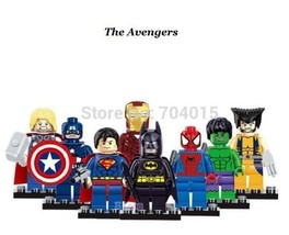 The Avengers Super Heroes Series 8 Pcs Set Mini figures Building Toys Lego - $12.99