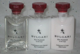Bulgari Au The Rouge Red Tea Shampoo/Shower Gel, Conditioner and Body Lo... - $21.00