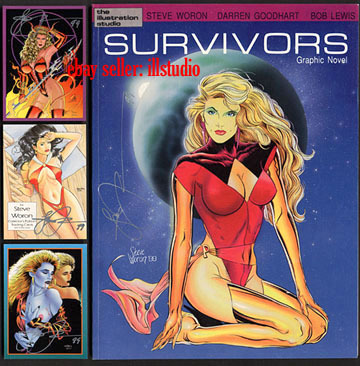 SIGNED Steve Woron, Karl Kesel SURVIVORS 1988 graphic Novel Spectrum characters!