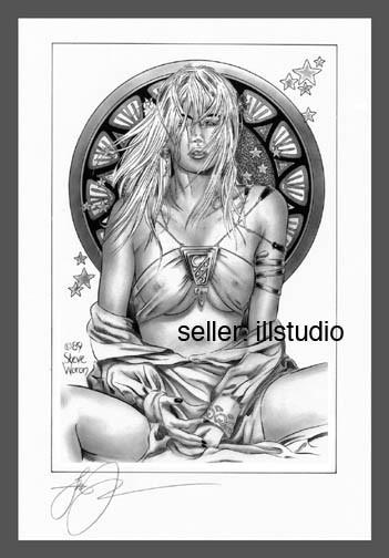 SIGNED Steve Woron MUCHA PRINCESS Fantasy Art Print WOW