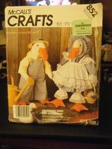 McCall's 852 Geese Stuffed Animals with Clothes Pattern - $12.48