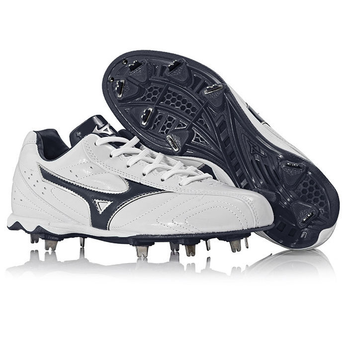 Mizuno Men`s Accel Trigger Baseball Shoes Metal Spike Cleats White 11GM146014