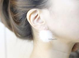 Pearl and Mink Ear Jackets, Genuine Mink Fur Po... - $15.00