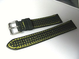 Racing Rally Euro genuine leather watch band 18mm fits vintage sports watch - $27.34 CAD