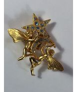 KIRK'S FOLLY Tinkerbell Fairy Pixie Pin - Signed - 2 inches - FREE SHIPPING - $35.00