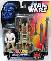 Star Wars Deluxe POTF Luke Skywalker's Desert Sport Skiff 1996 red card - $14.95