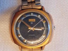 Vintage Elgin Automatic Day Date Wristwatch Wat... - $28.00