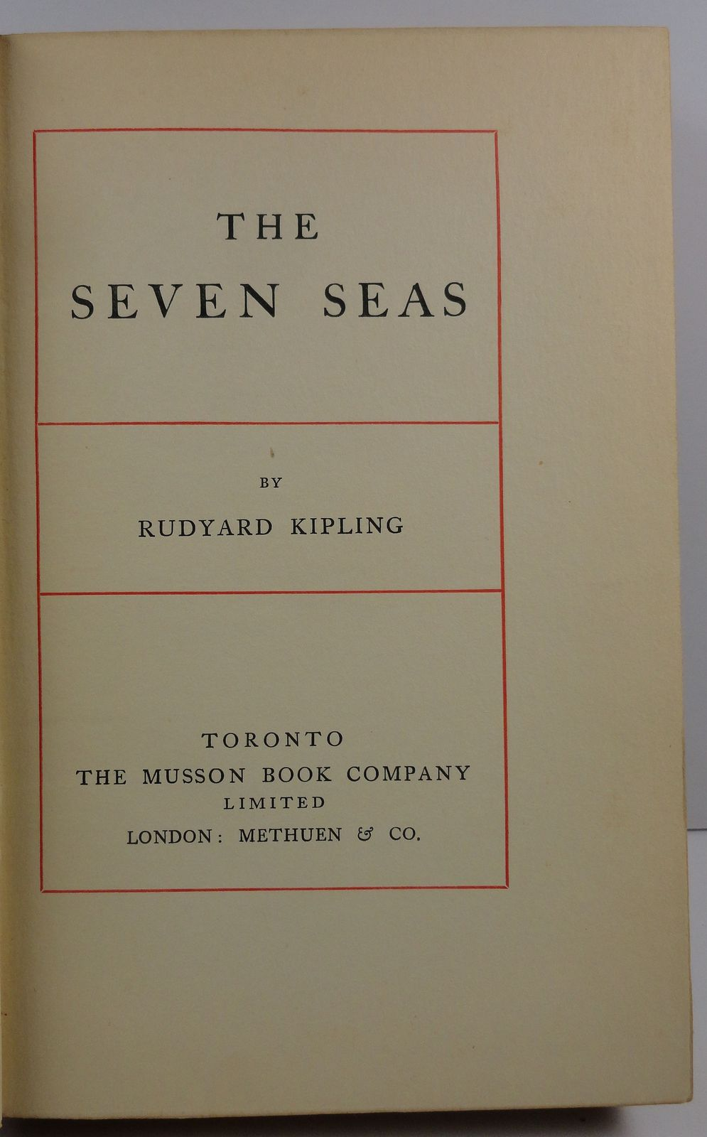 The Seven Seas by Rudyard Kipling The Musson Book Company