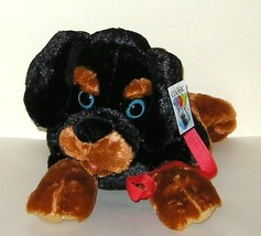 1/2 Price! Big Classic Toy Co Black Tan Rottweiler Puppy Dog with Leash NWT - $7.00