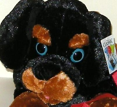 1/2 Price! Big Classic Toy Co Black Tan Rottweiler Puppy Dog with Leash NWT