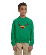 Kids Crewneck Reindeer Face Christmas Gift Cool Xmas Top - $17.94