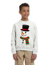 Kids Crewneck Snowman Ugly Christmas Cool Xmas Gift Top - $17.94