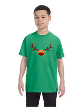 Kids T Shirt Reindeer Face Christmas Shirt Cool Funny Xmas Gift - $10.94