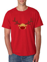 Men's T Shirt Reindeer Face Christmas Shirt Cool Funny Xmas Gift image 2