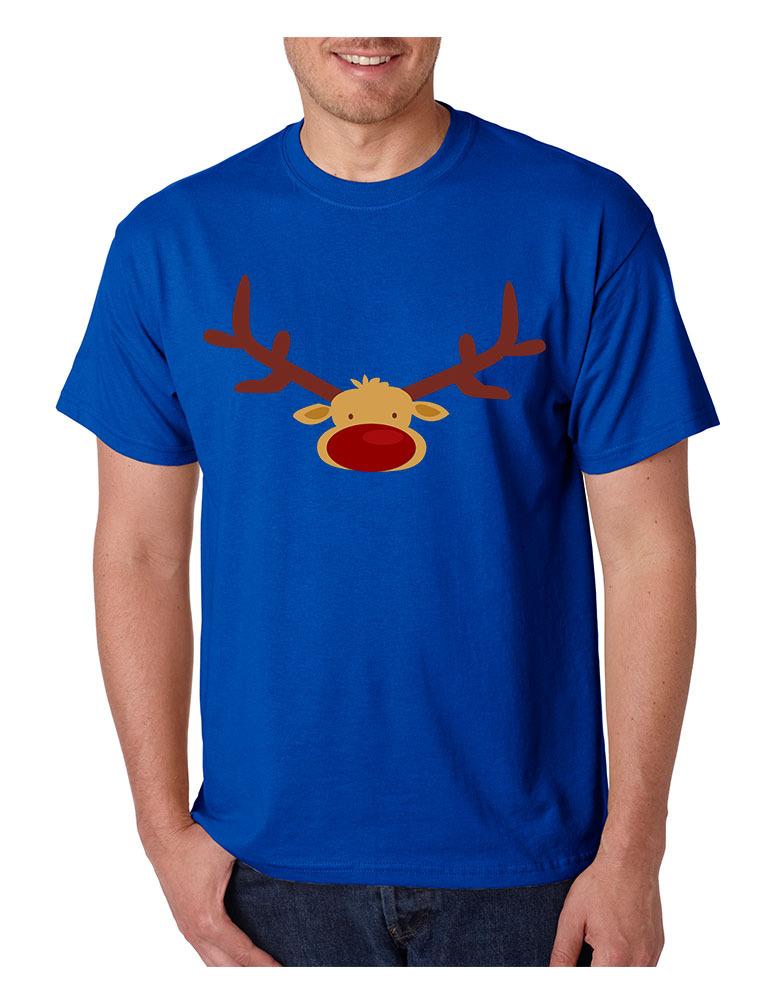 Men's T Shirt Reindeer Face Christmas Shirt Cool Funny Xmas Gift image 3