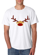 Men's T Shirt Reindeer Face Christmas Shirt Cool Funny Xmas Gift image 4