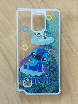 Disney Stitch Sparkle Liquid Glitter Quicksand Case For Samsung Galaxy Note 4 - $12.99
