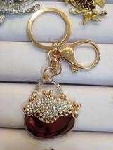 Handbag Keychain Purse Charm With Rhinestones Crystals Ship From NY - $9.99