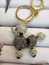 Poodle Dog Keychain Purse Charm With Rhinestones Crystals Ship From NY - $12.99