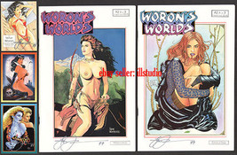 Steve WORON's WORLDS #2A and RARE 2B+Signed +VAMPI Card SIGNED! Publsihe... - $16.78