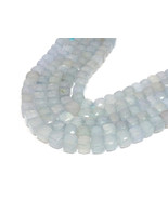 """Natural Blue Chalcedony 6-9mm 3D Cube Box Faceted Beads 8"""" Loose Beads S... - €23,79 EUR"""