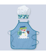 Toddlers Snowman Apron and Chef Hat - $24.00
