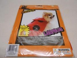 NEW PET HALLOWEEN COSTUME ADJUSTABLE MOST DOGs & CATs LADYBUG HOODED CAP... - $6.44