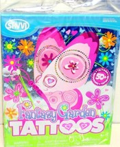 50+ Fantasy Garden Temp Tattoos Birthday Favors Party Game Flowers Butte... - ₨224.88 INR