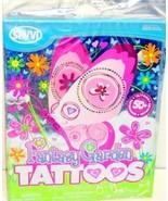 50 Fantasy Garden Temp Tattoos Party Supplies Flowers Butterflies Easter... - $65,91 MXN