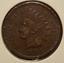 1901 Indian Head Cent EF+ #0683 - $7.29