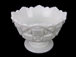 """Vintage Westmoreland Pedestal Nut/Mint Dish,Old Quilt Design 3.25"""" Milk Glass - $12.69"""