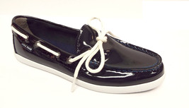New COLE HAAN Size 7.5 NANTUCKET Navy Blue Patent Boat Shoes 7 1/2 - €21,26 EUR