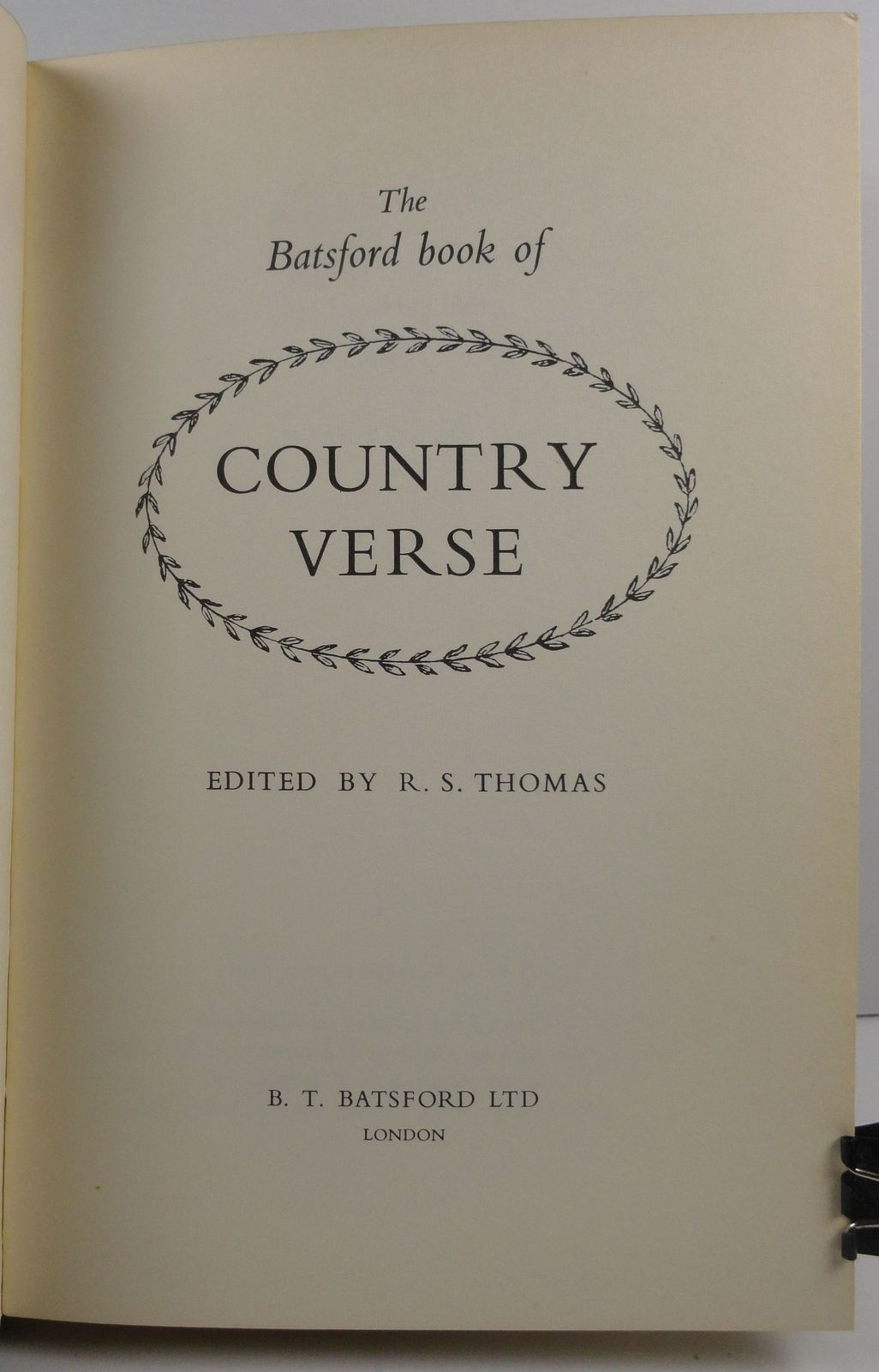 The Batsford Book of Country Verse edited by R.S. Thomas