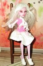 Operetta Monster High OOAK Doll Remake Custom Doll white mohair hair pink lavend - $45.53