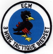 "Belgian Air Force ECM 3 Wing Tactique Bierset 4"" Round Embroidered Patch NOS - $8.00"