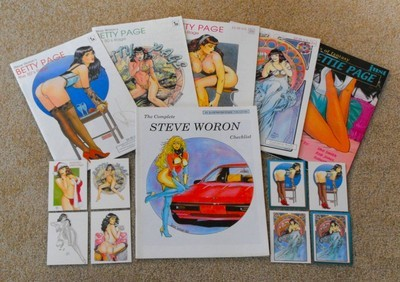 Steve Woron Betty Page Collector Bundle SIGNED~HTF Stuf