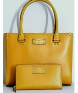 KATE SPADE QUINN WELLESLEY OCHRE YELLOW SATCHEL BAG +/OR MATCHING WALLET... - $94.99+