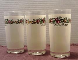 Vintage Set of 3 LE VERRE Drinking Glasses // S... - $15.00