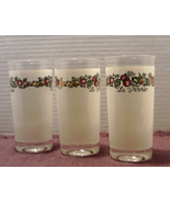 Vintage Set of 3 LE VERRE Drinking Glasses // Spice O Life Pattern Tumblers - $15.00