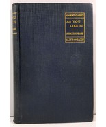 Shakespeare's As You Like It edited by Samuel Thurber 1922 - $3.99