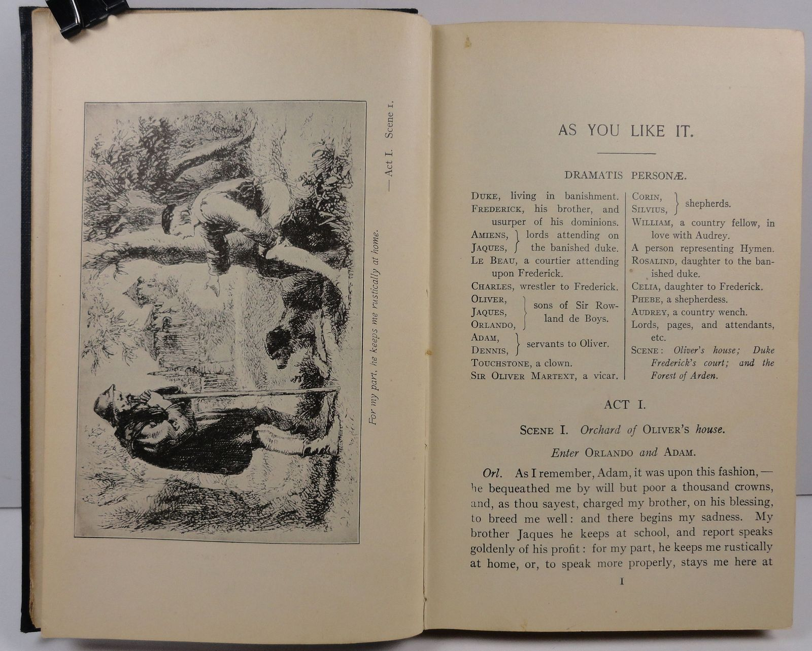 Shakespeare's As You Like It edited by Samuel Thurber 1922