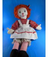 "Vintage Handmade 20"" Raggedy Ann doll cloth rag doll old but clean - $10.60"