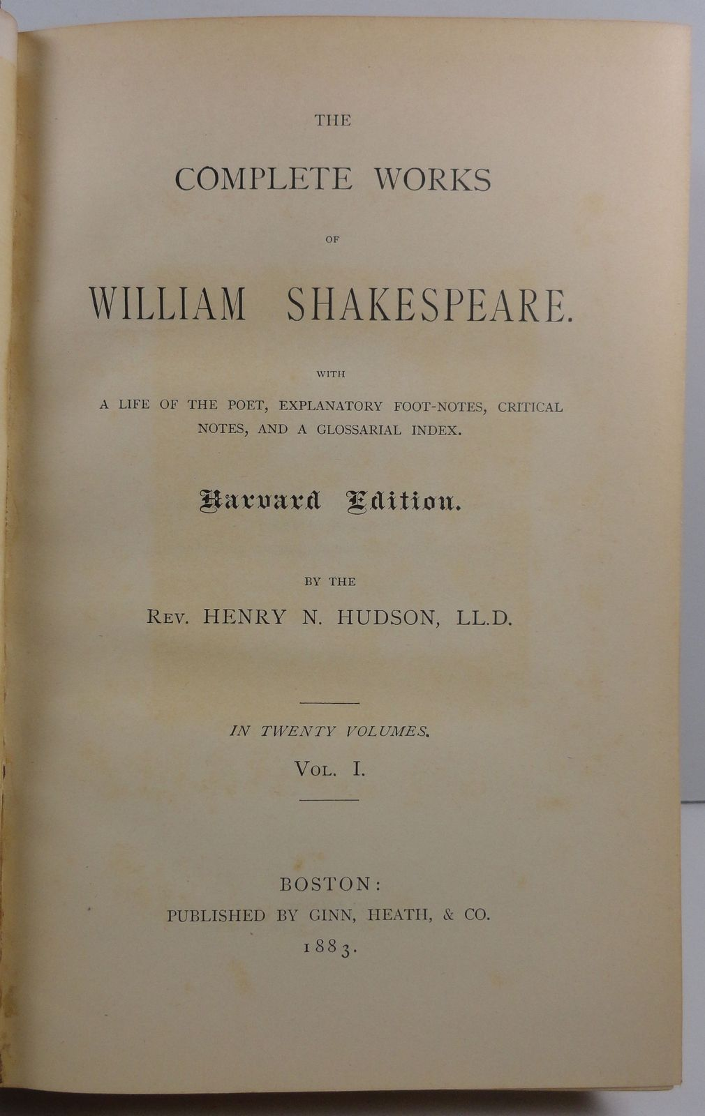 The Complete Works of William Shakespeare Henry Hudson 1883