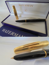 WATERMAN FLASH fountain pen black and Plated GOLD G Original in gift box... - $44.00