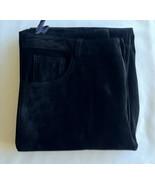 Brandon Thomas Genuine Black Leather Pants Sz 10 Jean Style 33/32 Lined ... - $31.50
